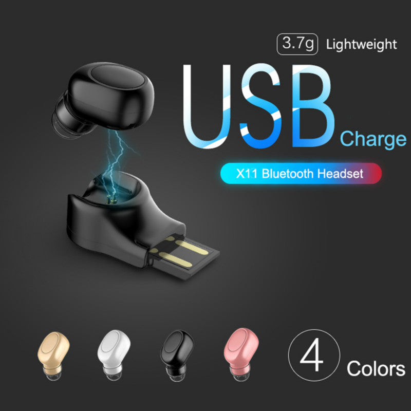 Mini USB Chargeable Earphones