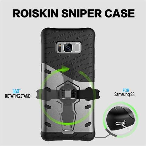 Samsung Galaxy S8 360 Degree Armor TPU Silicone Cover