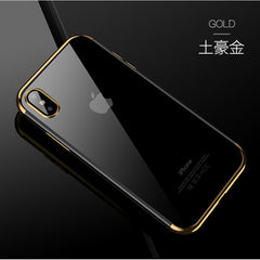 Transparent Plating Metal Ring Kickstand IPhone Case