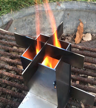 Load image into Gallery viewer, Mini Rocket Stove with carry case and fire starter.