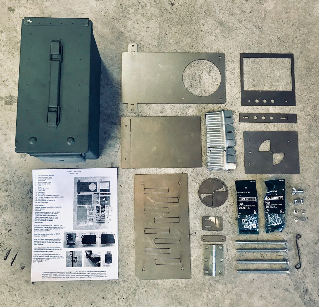 Ammo Can Stove Combo Kit - DIY Kit with Ammo Can