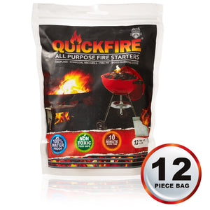 Quickfire All Purpose Fire Starter - 12 pack