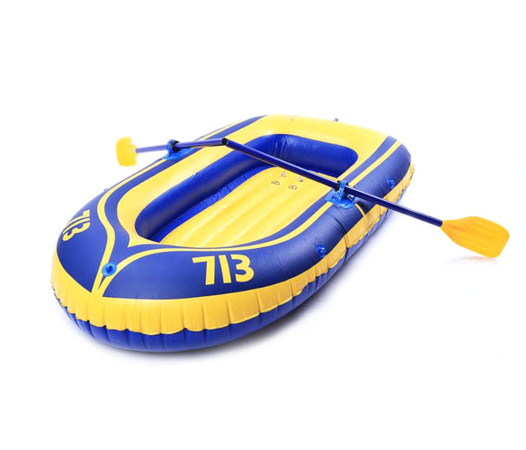 Thick inflatable double rubber boat outdoor drifting boat