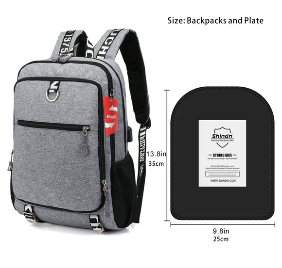 Shindn Bulletproof Backpack Lightweight, 9.8