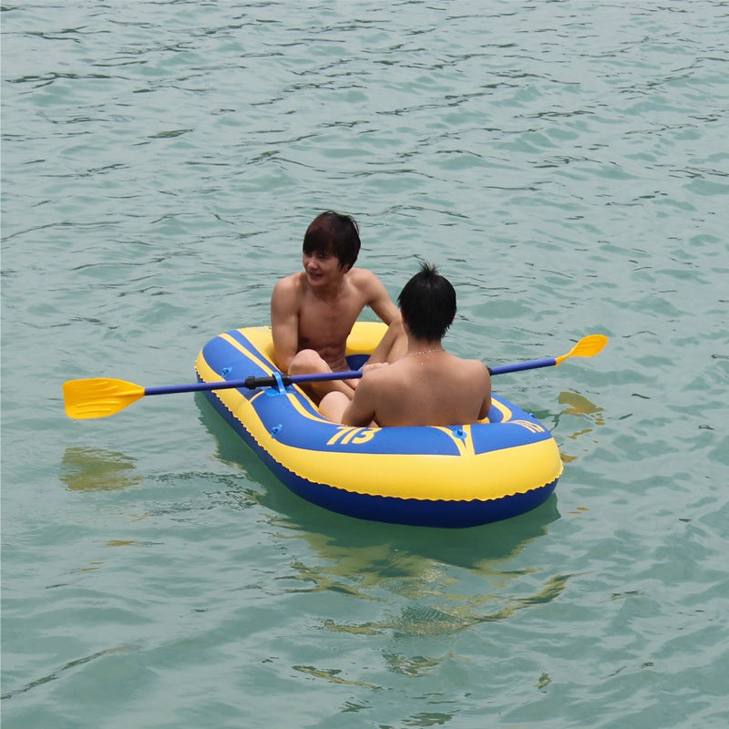 High-grade thick inflatable dinghy Double paddle inflatable kayak Drift boat(Refused to PO BOX address)