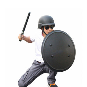 Shindn Lightweight Round Aluminum Alloy Protective Equipment Large Size Black Shield