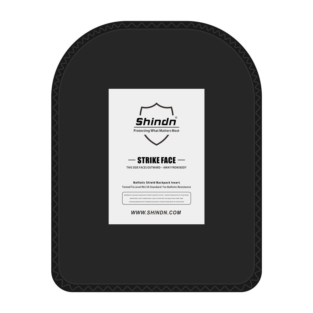 "Lightweight Aramid Fiber bulletproof plate, 28-layer flexible bulletproof Twaron UD material 15""x11"""