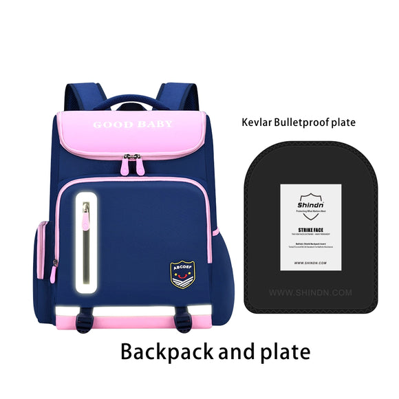 bulletproof backpack Student safety school bag Shindn Kevlar backpack student plate carrier school bag for girls and school bag for boys Kevlar - shindn