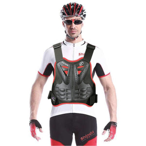 Mens Motocycle Protective Vest Chest Back Spine Protector Motorcycle protective gear armor - shindn