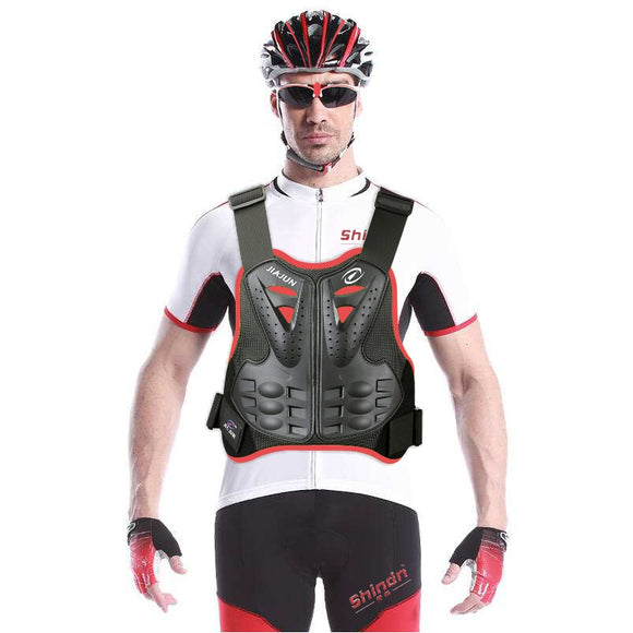 Mens Motocycle Protective Vest Chest Back Spine Protector Motorcycle protective gear armor