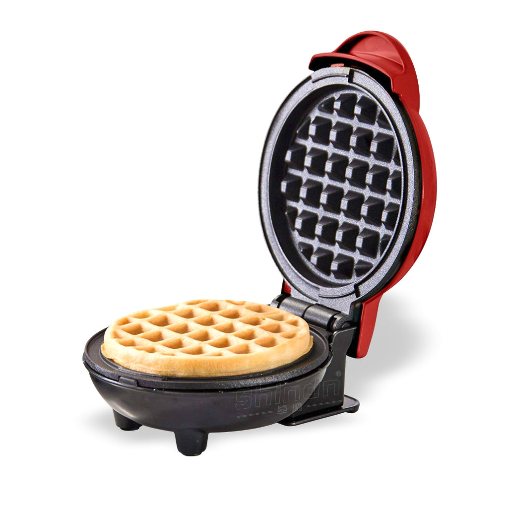 Mini Waffle Maker Machine, Electric Round Griddle for Individual Pancakes, Cookies, Eggs & other on the go Breakfast
