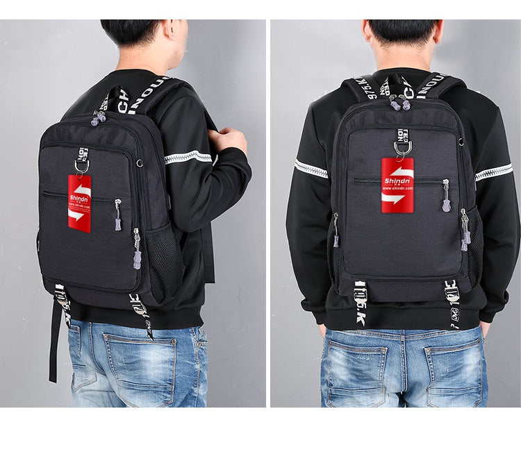 Student Backpack Computer Bag With USB Charging Interface