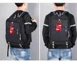 Student Backpack Computer Bag With USB Charging Interface - shindn