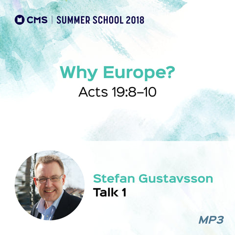 CMS Summer School 2018 - Why Europe?