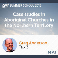 Case studies in Aboriginal Churches in the Northern Territory