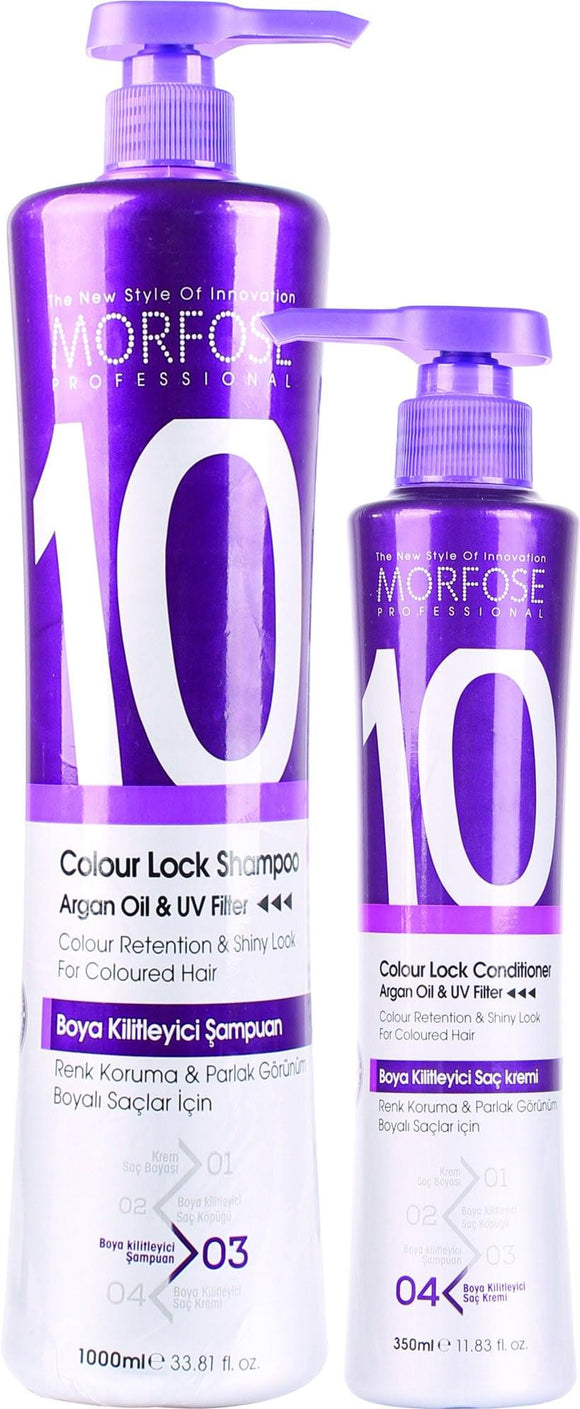 MORFOSE 10 COLOUR LOCK SHAMPOO 350ML - MorfoseUK