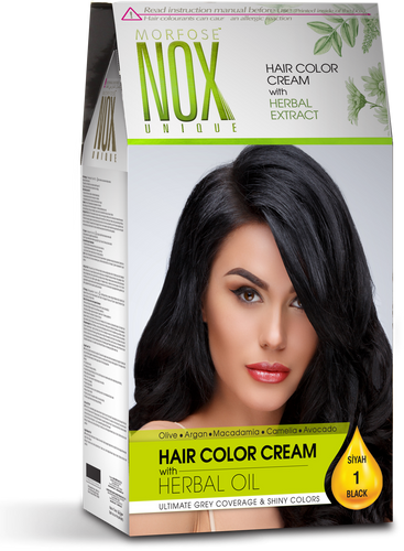 Morfose NOX UNIQUE- Hair Color Cream with Herbal Oil- Argan Oil- Hair dye kit