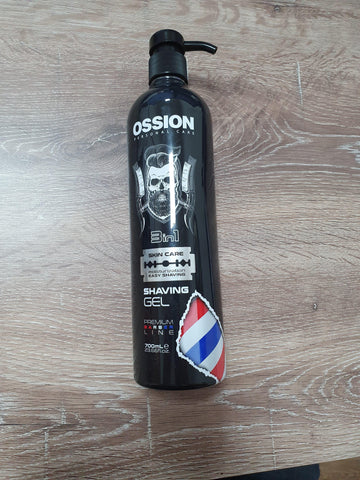 OSSION BARBER SHAVING GEL 700ML - MorfoseUK
