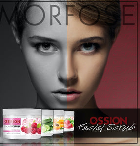 Morfose OSSION Facial Scrub 400ml (Strawberry, Raspberry, Apricot, Cucumber) - MorfoseUK