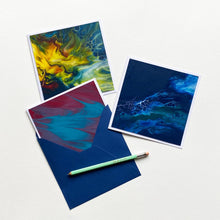 Load image into Gallery viewer, Original Art Assorted Blank Greeting Cards - Set of 3 + Envelopes