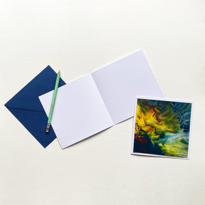 Original Art Assorted Blank Greeting Cards - Set of 3 + Envelopes