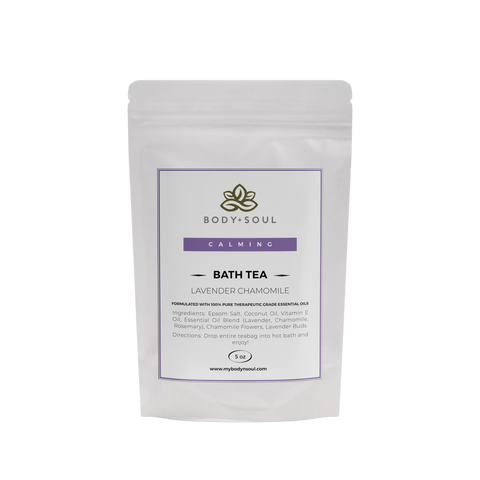 epsom salt bath tea lavender chamomile insomnia relief sleep essential oils home spa herbal