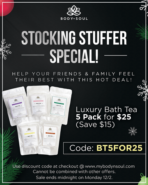 *Holiday Special* 5 Bath Tea Luxury Set (Code BT5FOR25 for $15 OFF at Checkout)