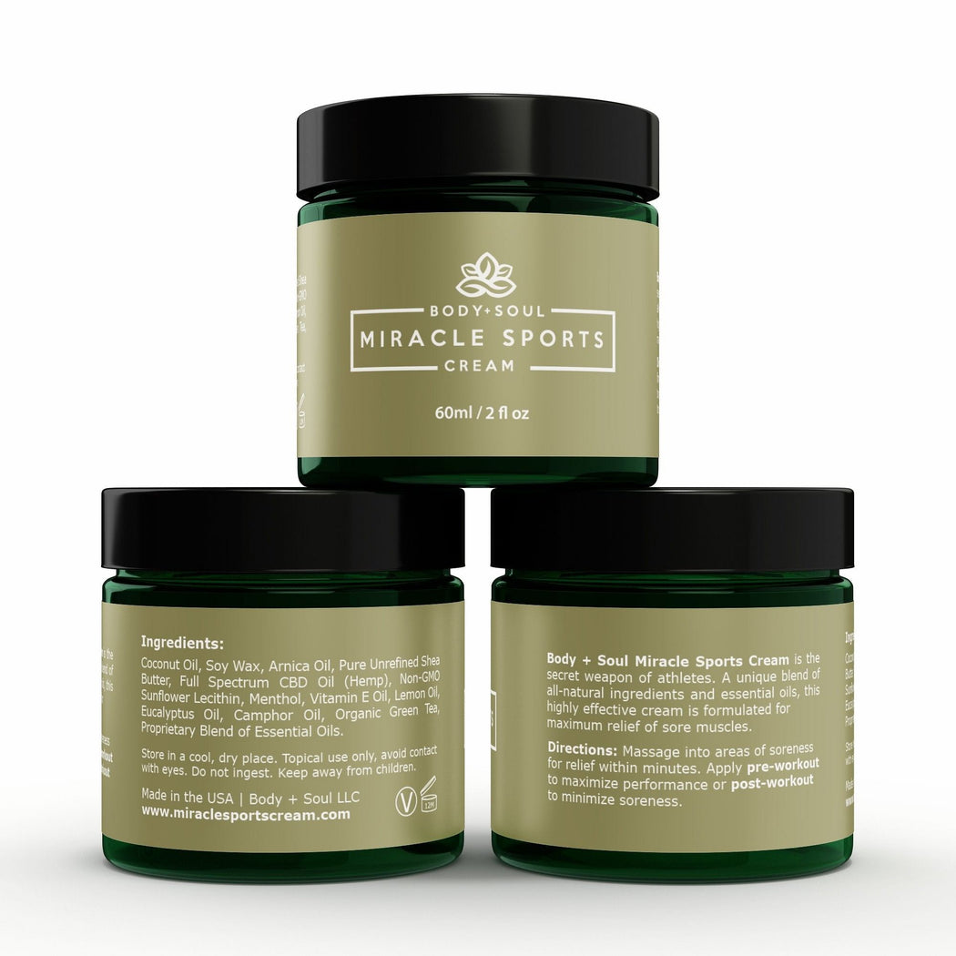 "Miracle Sports Cream - Therapeutic ""Beyond CBD"" Sports Topical"