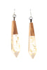 Gold Metallic Drop Earrings