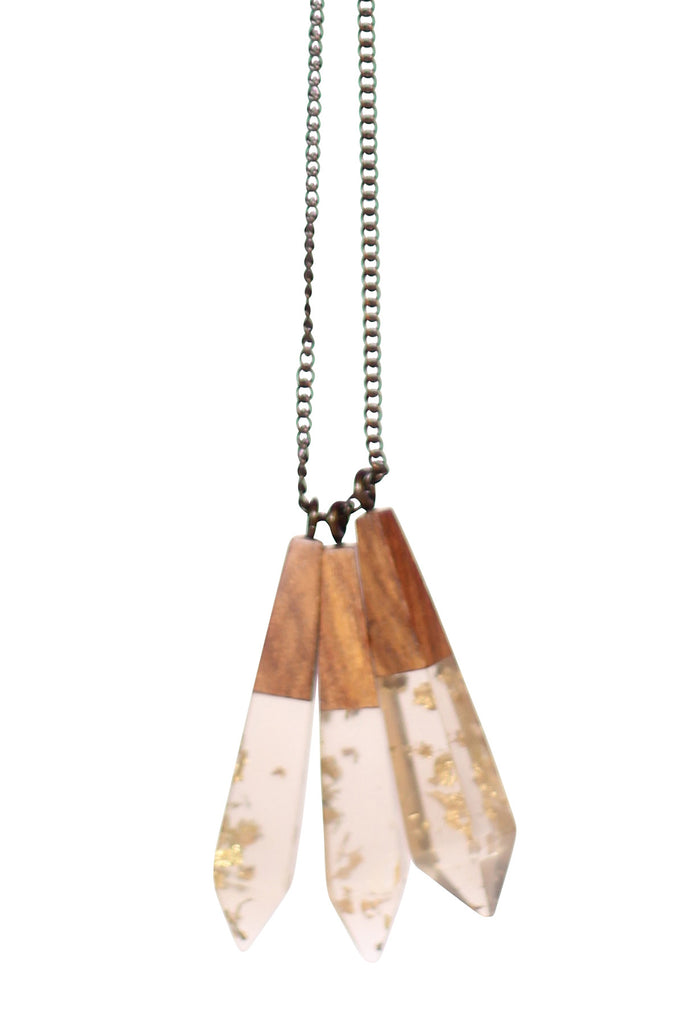 Gold Metallic Drop Necklace