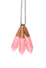 Rose Metallic Drop Necklace