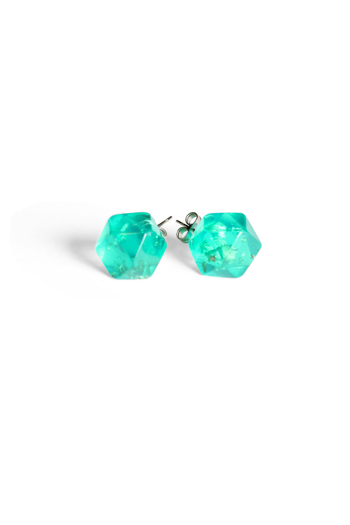Metallic Resin Studs Emerald