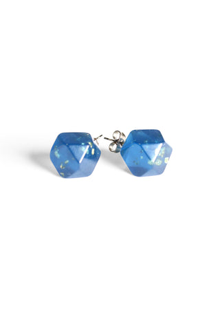 Metallic Resin Studs Blue