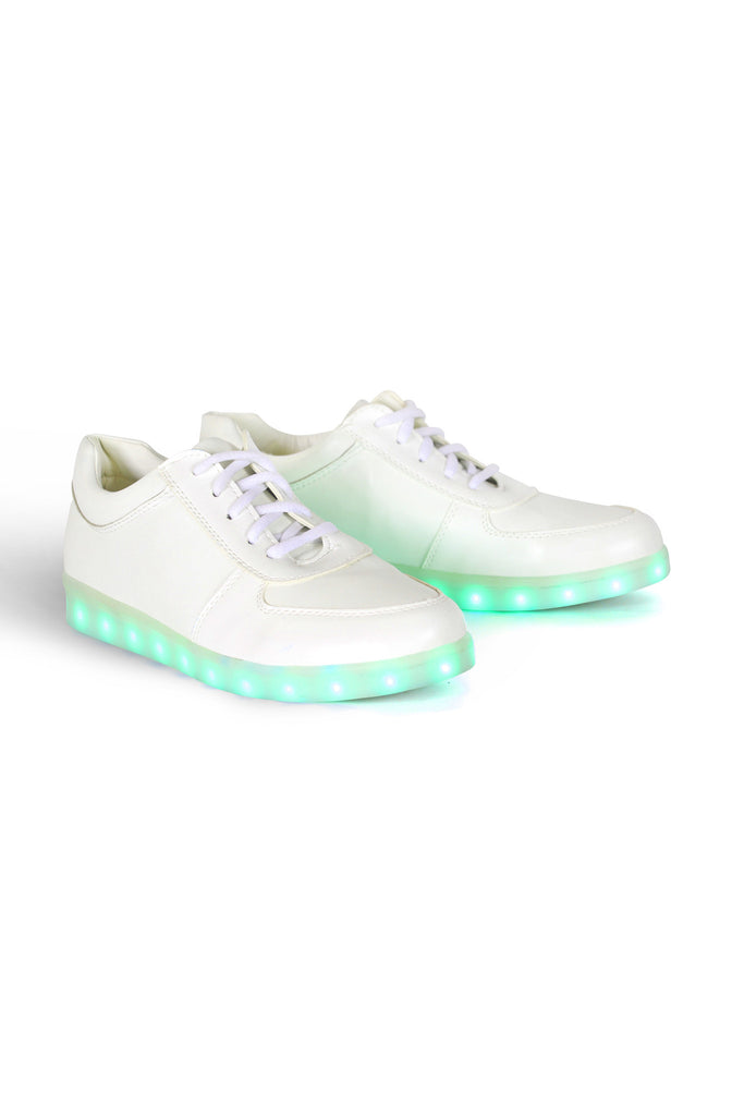 White Light Up LED Casual Shoes