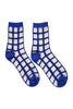 Sheer grid socks blue
