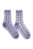 Sheer grid socks lavender