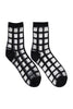 Sheer grid socks black