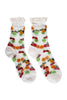 Sheer Fruit Salad Socks White