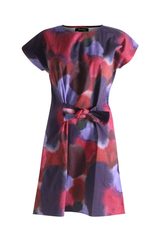 Watercolour Tie Dress