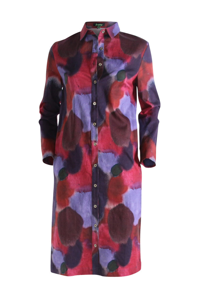 Watercolour Shirt Dress