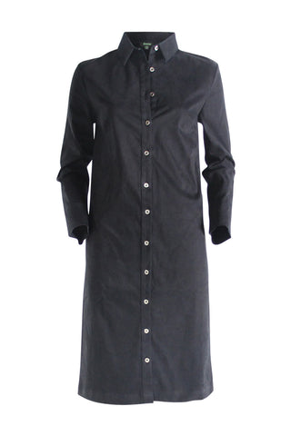 Black Peach Shirt Dress