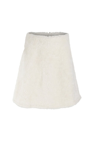 White Teddy Fleece Skirt
