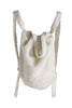 White Teddy Fleece Backpack