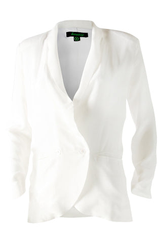 White Light Silk Blazer
