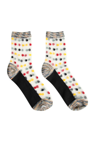 Sheer Dot Socks Black