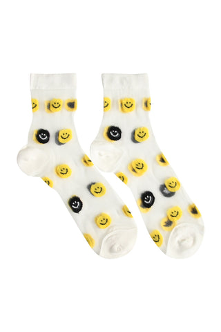 Sheer Smiley Socks