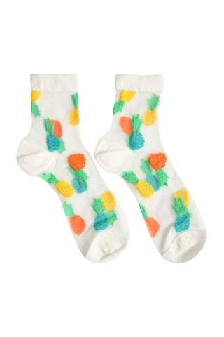 Sheer Pineapple Socks