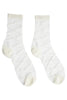 Sheer Diamond Socks White