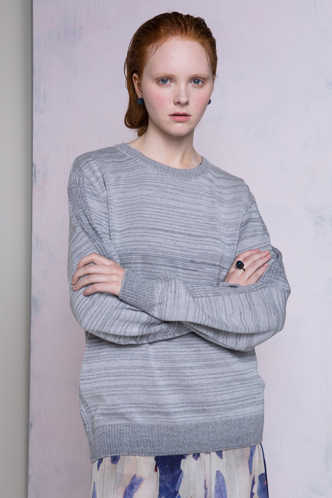 Grey Merino Wool Jumper