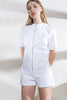 White Denim Bill Playsuit